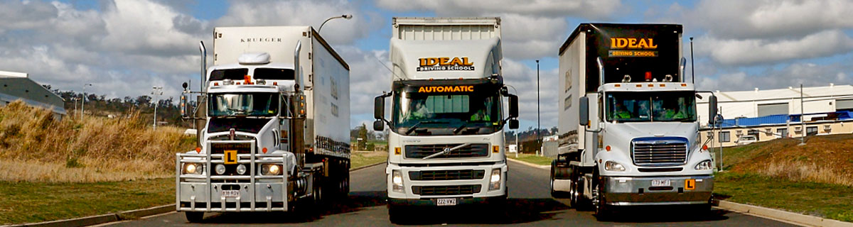 Truck driver training at Ideal Driving School