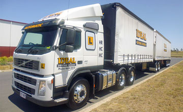 Multi Combination truck licence training vehical at Ideal Driving School